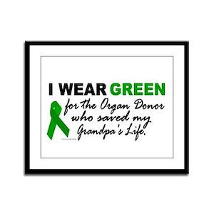 I Wear Green 2 (Saved My Grandpa's Life) Framed Pa