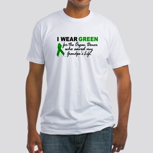 I Wear Green 2 (Saved My Grandpa's Life) Fitted T-