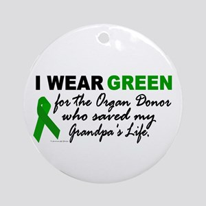 I Wear Green 2 (Saved My Grandpa's Life) Ornament