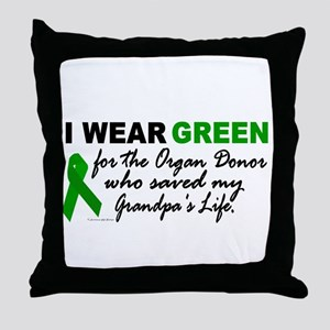 I Wear Green 2 (Saved My Grandpa's Life) Throw Pil