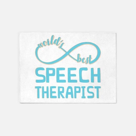 Worlds Best Speech Therapist 5'x7'Area Rug
