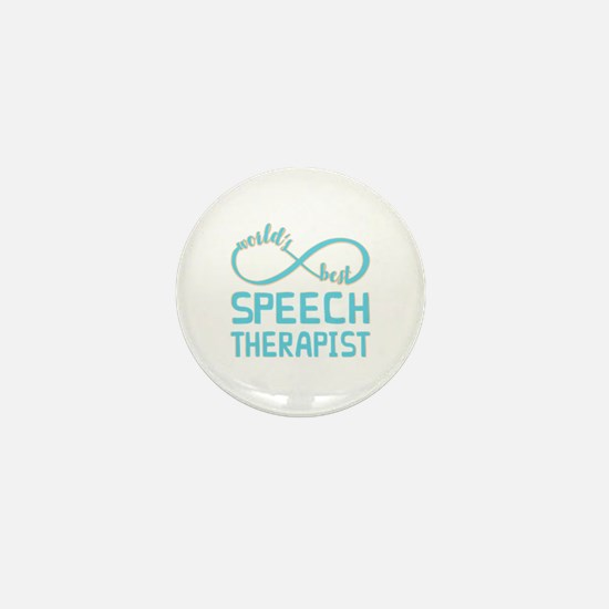 Worlds Best Speech Therapist Mini Button