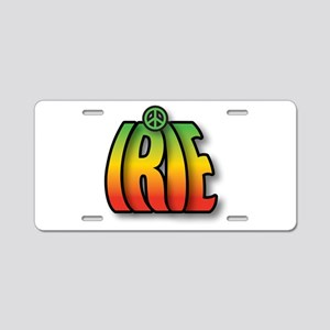 Irie Peace Aluminum License Plate