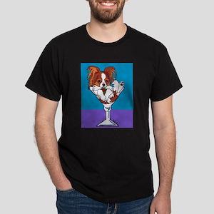 Papillon, White & Red Dark T-Shirt