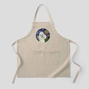 Starry - White Poodle 1 Apron