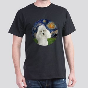 Starry - White Poodle 1 Dark T-Shirt