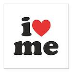 I Heart Me Square Car Magnet 3