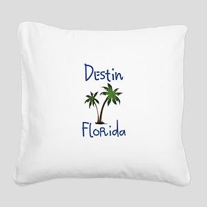 Destin Florida Square Canvas Pillow
