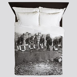 Destroying Bootleg Liquor, 1923 Queen Duvet