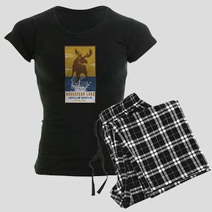 Moosehead Lake Maine Moose Women's Dark Pajamas