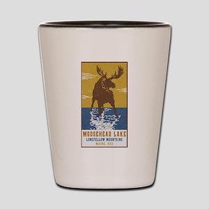 Moosehead Lake Maine Moose Shot Glass