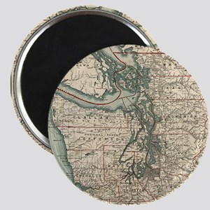 Vintage Map of The Puget Sound (1910) Magnets