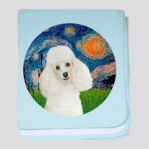 Starry - White Poodle 1 baby blanket
