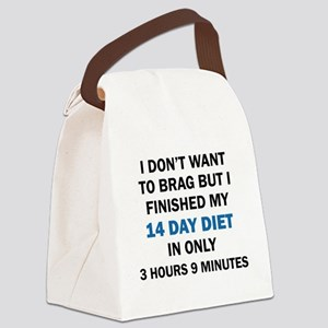 I DON'T WANT TO BRAG Canvas Lunch Bag
