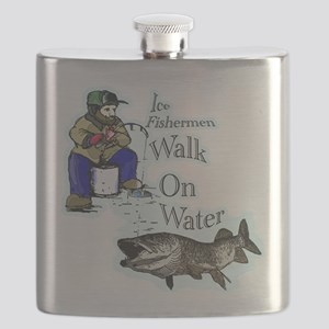 Ice fishing muskie Flask