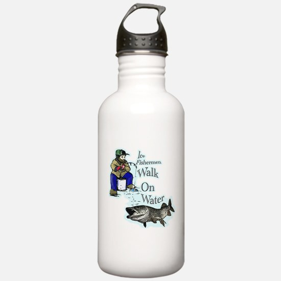 Ice fishing muskie Water Bottle