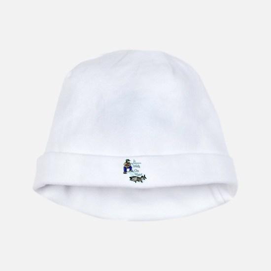 Ice fishing muskie baby hat