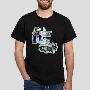 Ice fishing muskie Dark T-Shirt