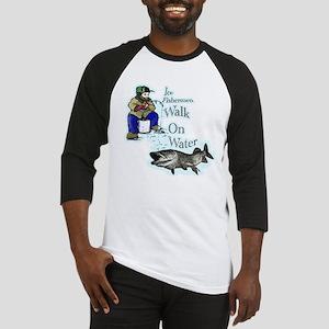 Ice fishing muskie Baseball Jersey