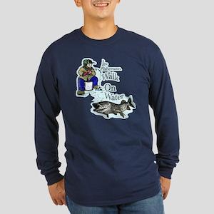 Ice fishing muskie Long Sleeve Dark T-Shirt