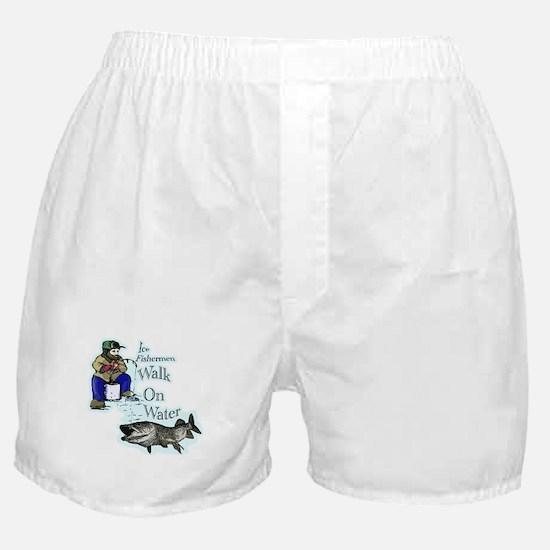 Ice fishing muskie Boxer Shorts