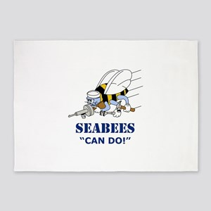 Seabees Can Do 5'x7'Area Rug