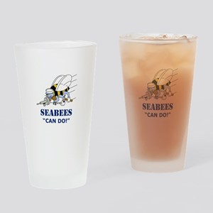 Seabees Can Do Drinking Glass
