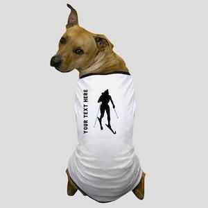 Cross Country Skier (Custom) Dog T-Shirt
