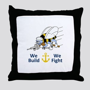Seabess Build We Fight Throw Pillow