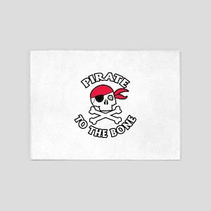 Pirate To The Bone 5'x7'Area Rug