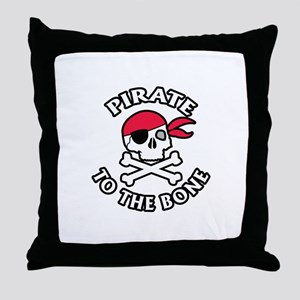 Pirate To The Bone Throw Pillow
