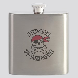 Pirate To The Bone Flask