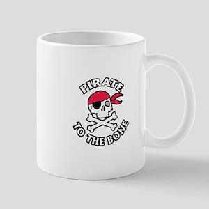 Pirate To The Bone Mugs