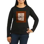 Espresso Women's Long Sleeve Dark T-Shirt
