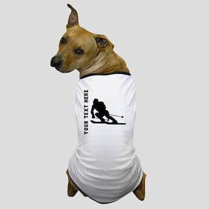 Skier (Custom) Dog T-Shirt