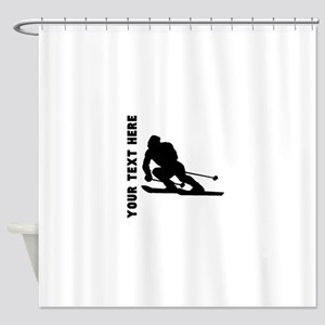 Skier (Custom) Shower Curtain