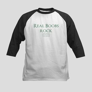 Real Boobs Rock Kids Baseball Tee
