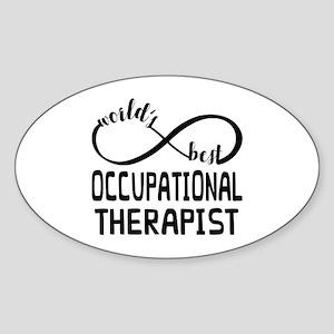 Worlds Best Occupational Therapist Sticker (Oval)