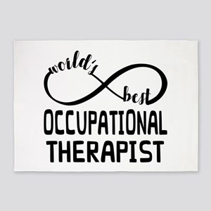 Worlds Best Occupational Therapist 5'x7'Area Rug