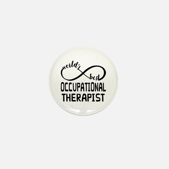 Worlds Best Occupational Therapist Mini Button