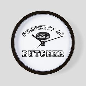 Property of a Butcher Wall Clock