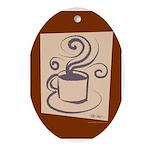 Espresso Oval Ornament