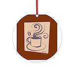 Espresso Round Ornament