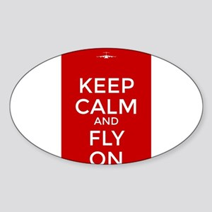 Keep Calm and Fly On Sticker