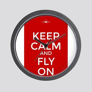 Keep Calm and Fly On Wall Clock