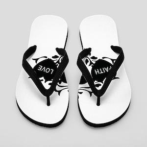 Faith Hope Love Flip Flops