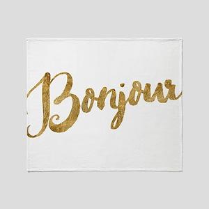 Golden Look Bonjour Throw Blanket