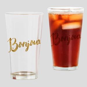 Golden Look Bonjour Drinking Glass