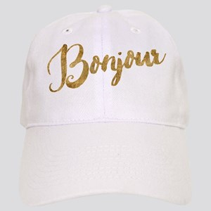 Golden Look Bonjour Baseball Cap