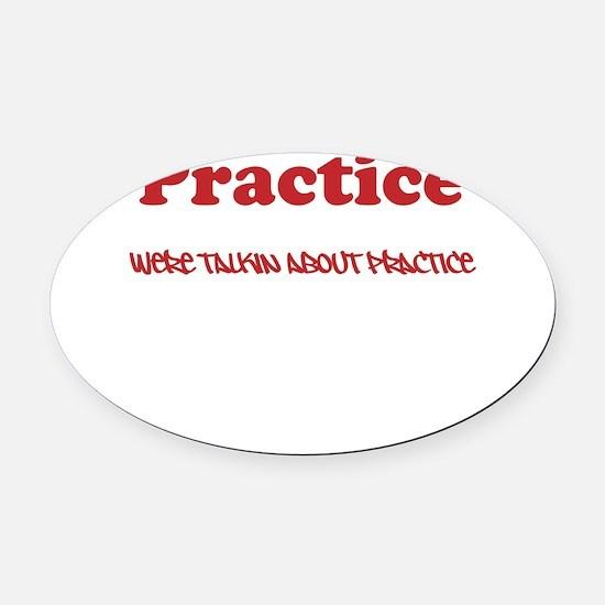 Practice Oval Car Magnet